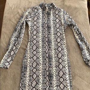 Fashion Nova snakeskin bodycon dress